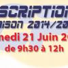 Les inscriptions pour la saison 2014/2015 auront lieu Samedi 21 Juin 2014 de 9h30 à 12H. On vous attend ! Vous pouvez consulter les nouveaux tarifs de la saison 2014/2015 […]