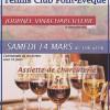 Le Tennis Club de Pont Evêque organise sa journée VIN & CHARCUTERIE, Samedi 14 mars 2015 de 10h à 16h. C'est également l'occasion de venir encourager nos deux premières équipes […]