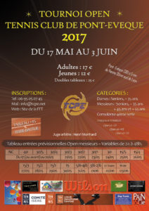 Tournoi Open 2017