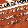 Le Tennis Club de Pont-Evêque organise du lundi 25 septembre au samedi 14 octobre 2017son tournoi vétérans sur terre-battue. Nous vous proposons les catégories suivantes : Dames : + 35 […]